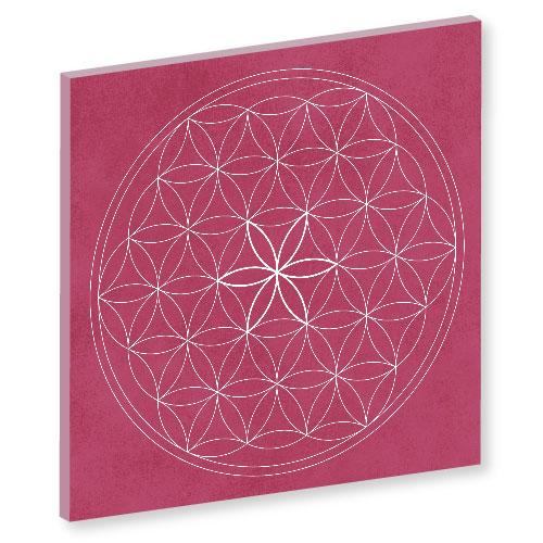 Blume des Lebens, himbeere Harmonisierung vom Mensch und Raum, Wandbild, Feng Shui Bild, Wanddeko, Leinwandbild, Farbwirkung