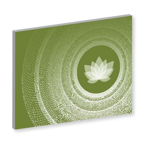 Wandbild für Yogastudios, Mandala, Mandala Art Work, grünes Bild, Feng Shui Bild Nordosten, Südosten, Harmonie, Olivgrün, online bilder bestellen. leinwandbild, Bilder für Yoga