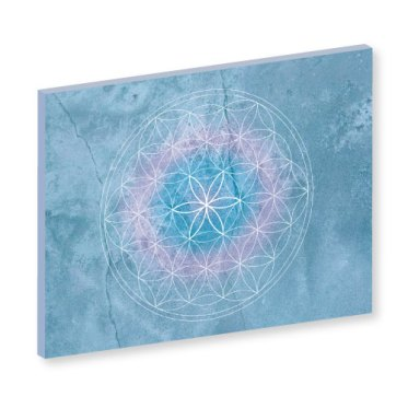 """Blume des Lebens """"Dream"""" Harmonisierung vom Mensch und Raum, Wandbild, Feng Shui Bild, Wanddeko, Leinwandbild, Farbwirkung, blau, lila, mystisch, geheimnisvoll"""