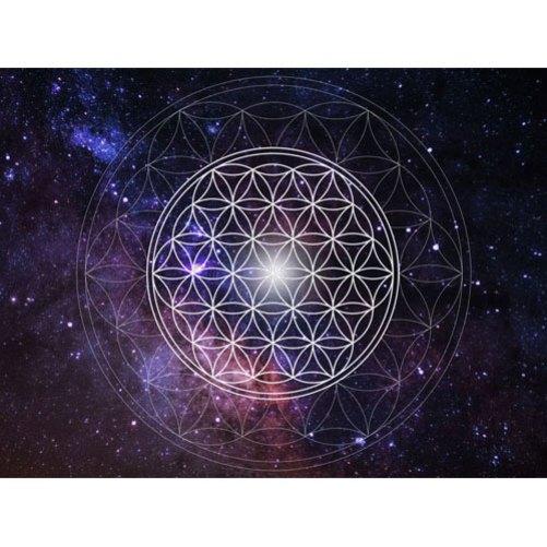weltraum planeten sterne galaxien, wandbild, Blume des Lebens, universum, wanddeko, leinwandbild, nachtblau, ulramarin, feng shui bild, mystisch, feinstoffliche energie, leinwandbilder, wandbilder, blau, sterne, galaxie, weltall, all, bild all, bild weltall, bestellen beim Universum, bild universum