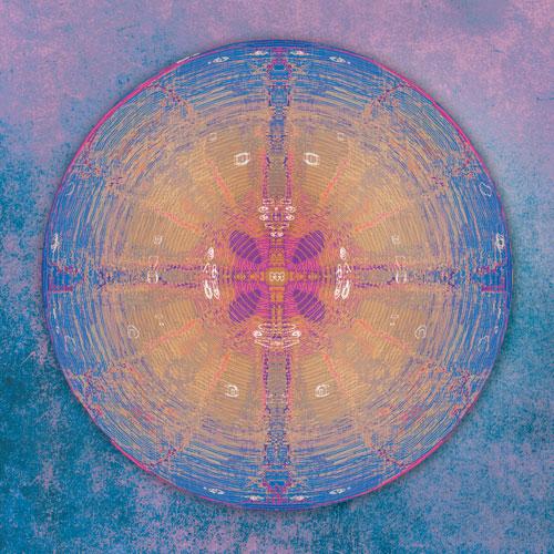 blau, violett, geheimnis, Geheimnisvoll, Mystisch, symmetrisch, wandbild, abstrakt, beruhigend, Feng Shui Norden, Energie des Kreises, Feng Shui, Leinwandbild, schillernde, kunst von ausserirdischen