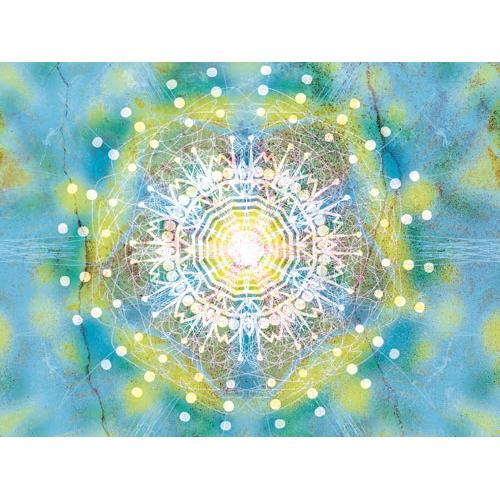 """Wandbild türkis, peace and power"""" Mensch und Raum, Wandbilder, Feng Shui Bild, Wanddeko, Leinwandbild, Farbwirkung, türkis, blau, gelb, verspielt, liebevoll Feng Shui Bagua norden, Wandgestaltung, Wanddesign"""
