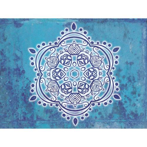 Mandala Wandbild, blaue Energie, Wandbilder, Feng Shui Bild, Wanddeko, Leinwandbild, Farbwirkung, blau, verspielt, Feng Shui Bagua norden, Wandgestaltung, Wanddesign, Wanddeko, Mandalas, indien, indisch, Wandtapete