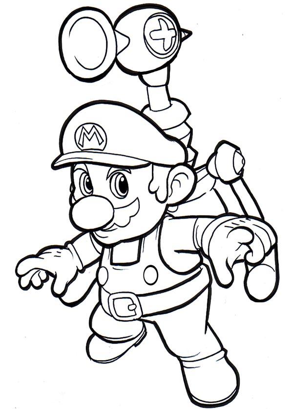 Mario Kleurplaat Animaatjesnl