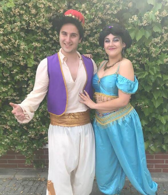 Animaciones infantiles con Aladdin y Jasmine