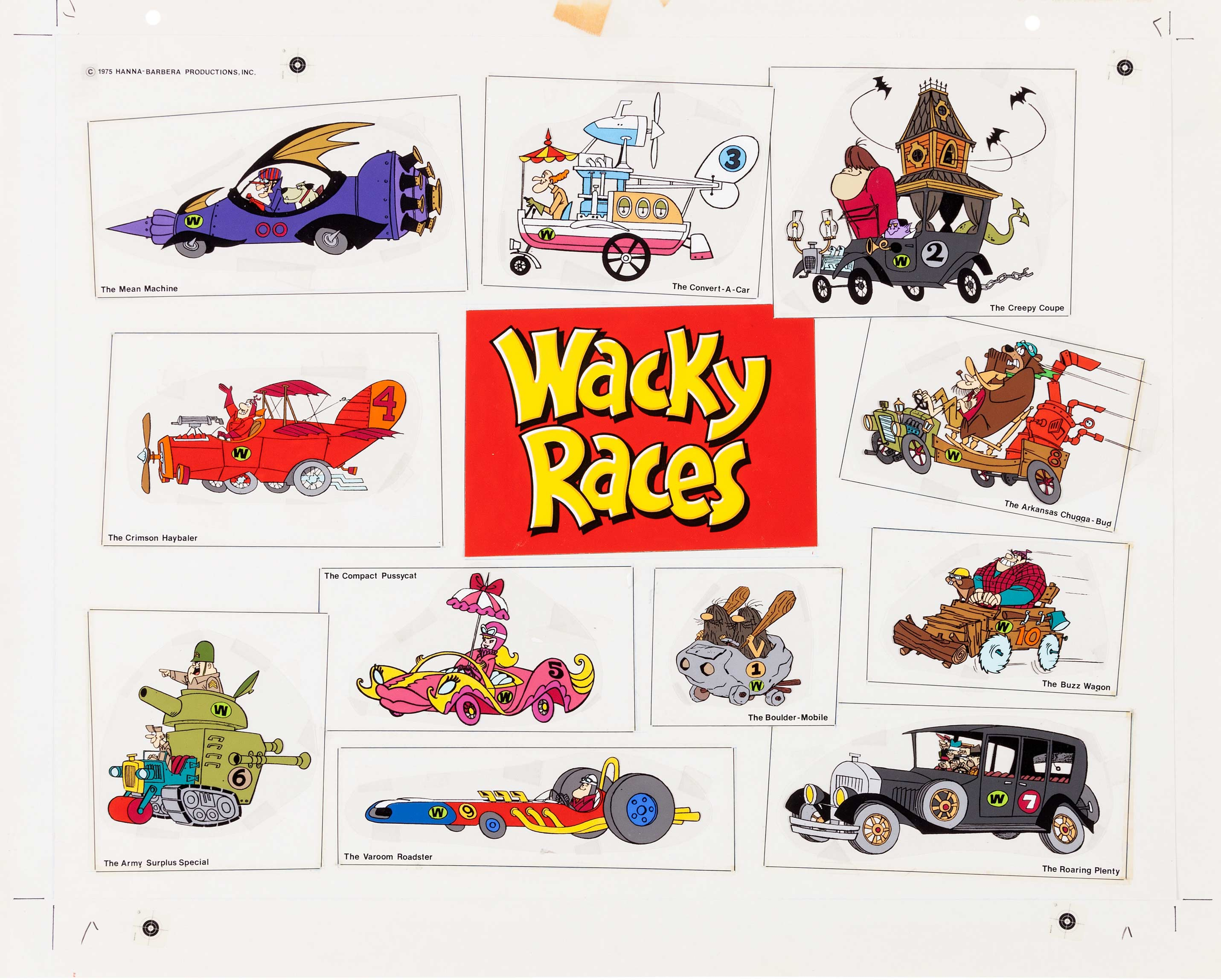 Wacky Races Coloring Pages
