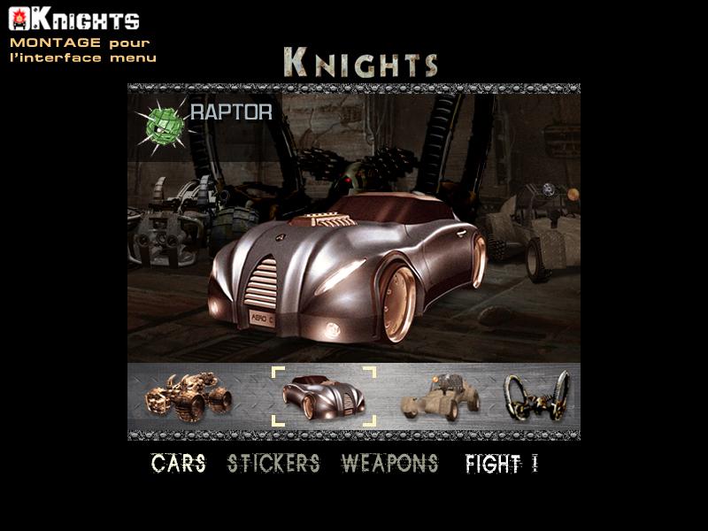 Visuel Front-End jeux vidéo KNIGHTS