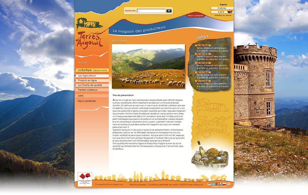 Web design Terres d'Aigoual