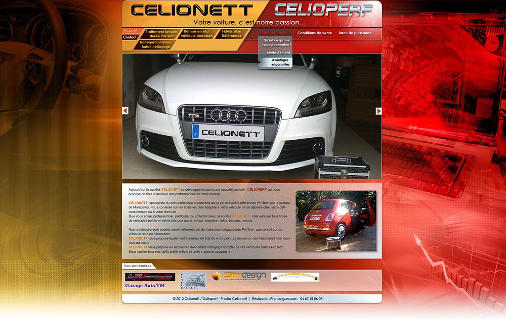 Web design Celionett / Celioperf