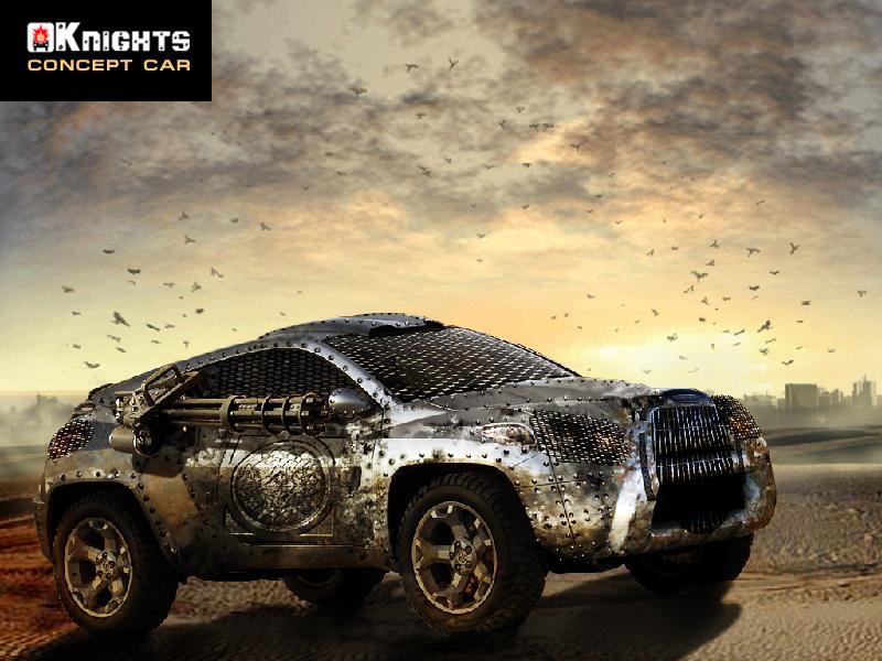 Concept car photomontage pour jeux vidéo KNIGHTS