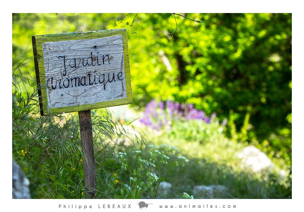 Panneau Jardin aromatique au hameau de Pratcoustal