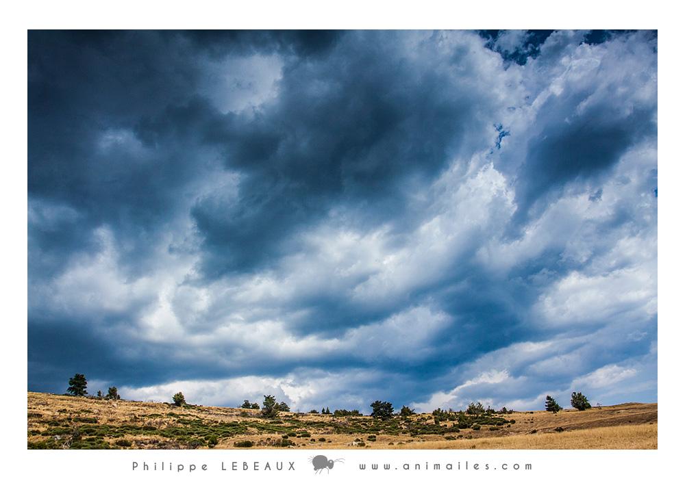 Ciel nuageux sur la Vallée du Bonheur (Cévennes)
