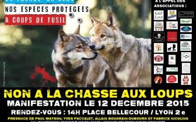 Report de la manifestation pour la défense du loup