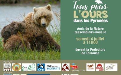 Tous pour l'Ours dans les Pyrénées Samedi 4 juillet à 11 h à Toulouse
