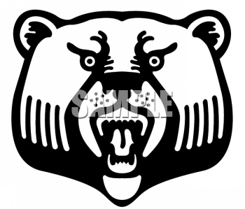 Clipart of a Angry Bear Bearing Its Teeth - AnimalClipart.net (350 x 299 Pixel)