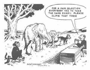 unfair animal intelligence test comic