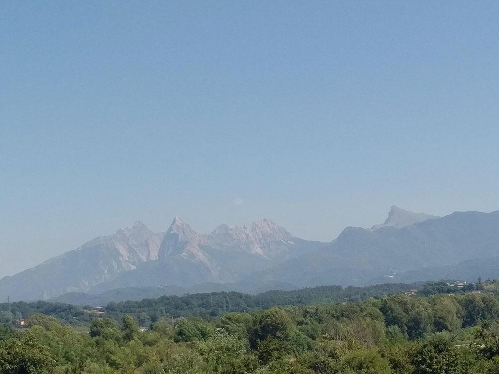 A view over the Matterhorn as we head towards La Spezia