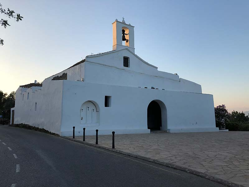 We snoozed under the gaze of this very traditional Ibizan church