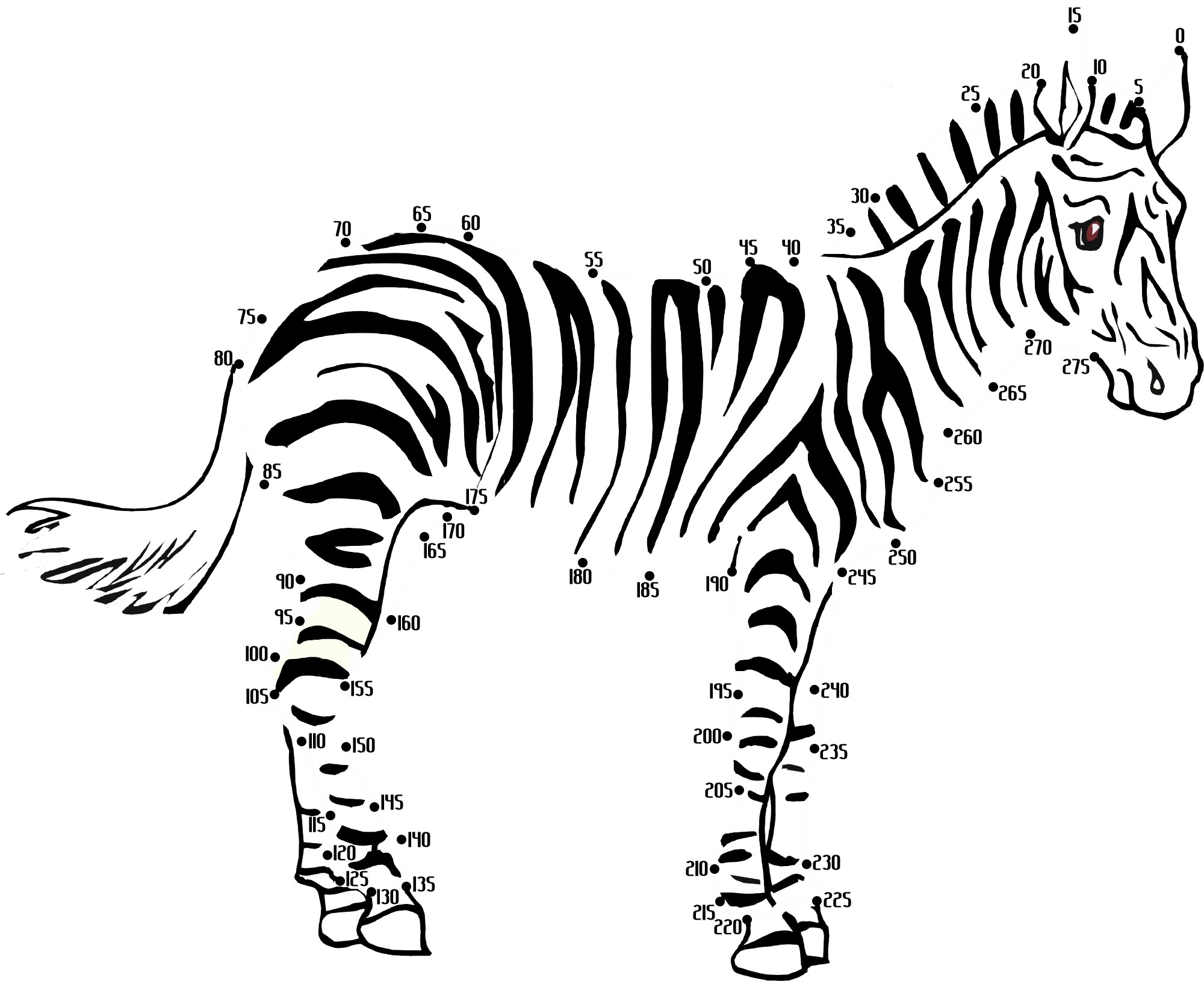 100 Free Printable Animal Dot To Dot Activity Worksheets