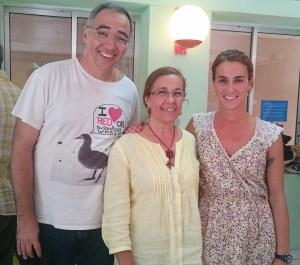 Los narradores Daniel Martín, Begoña Perera y Pilar Hidalgo.