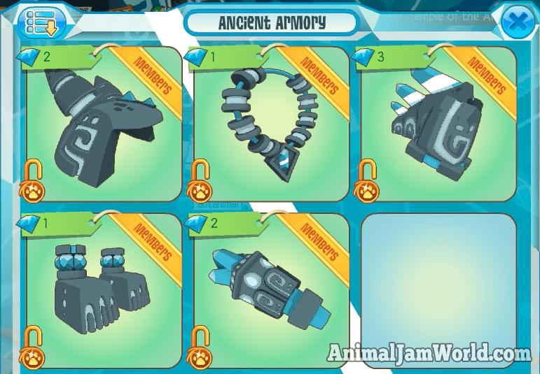 Animal Jam Tail Armor Code