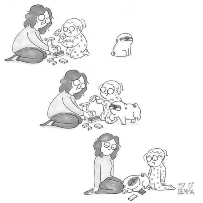 vivere con un cane e un bambino