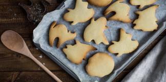 Biscotti di halloween a forma di fantasma