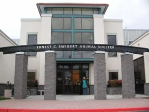 Oregon Humane Society entrance.