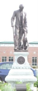 Henry Bergh statue in front of the Wisconsin Humane Society in Milwaukee.