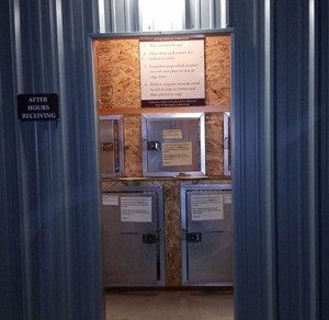 Doorway to the Whatcom Humane Society drop-off facility.  (Beth Clifton photo)