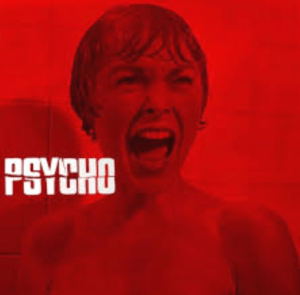 Janet Leigh in promo for 1960 Alfred Hitchcock film Psycho.