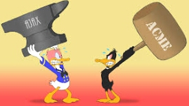 Donald & Daffy Ducks face off.