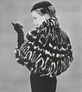 Civet fur coat circa 1954
