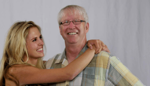 Mikkel Becker & her father, Marty Becker, DVM. (Facebook photo)