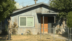 House where the Fresno pit bull/Sharpei fatality occurred.