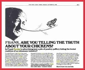 Henry Spira vs. Frank Perdue