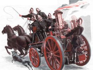 19th century horse-drawn fire engine. (Flickr image)