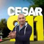 Cesar Millan leads applause for himself.