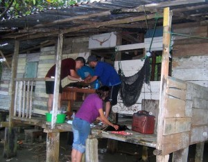 One of Katherine Gibson's Costa Rican jungle spay/neuter clinics. (Katherine Gibson photo