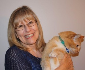 Vancouver Humane Society executive director Debra Probert did not vote for anyone. Neither did her cat. (Vancouver Humane Society photo)
