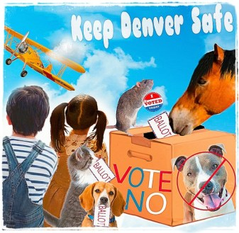 Voting box with children and animals