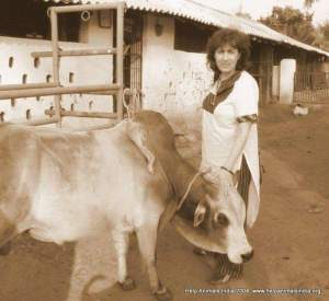 Help Animals India founder Eileen Weintraub, long ago and far away.