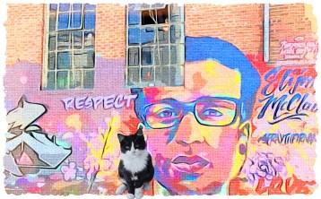 Elijah McClain graffiti artwork