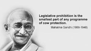 Gandhi slogan