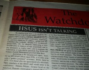 HSUS isn't talking