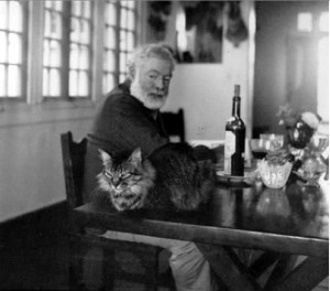 Ernest Hemingway, whose 1952 novel The Old Man & The Sea inspired The Old Man & The Cat titles, was also famously fond of cats.