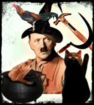 Hitler as a witch