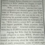Wills bankrupt;  Horse thief too?;  Ex-HSUS vp Wills cops a plea