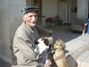 Iranian man with dogs. (VAFA photo)