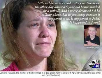 Johnna Harvard tears for John